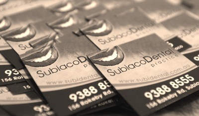 SubiDental Business Cards